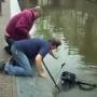 Amsterdam canal bike fishing