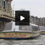Amsterdam canal boat tours icebound