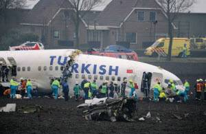 Turkish Airlines crashes near Amsterdam Schiphol Airport