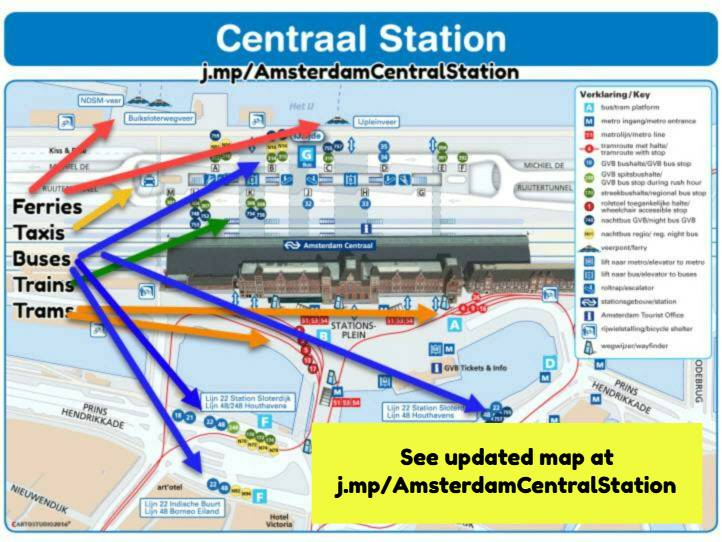 Amsterdam Centraal Station map