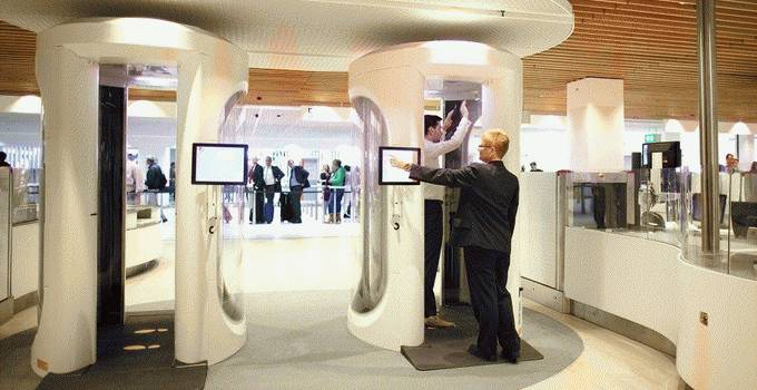 Schiphol Amsterdam Airport body scan