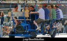 Amsterdam court bans beer-bikes