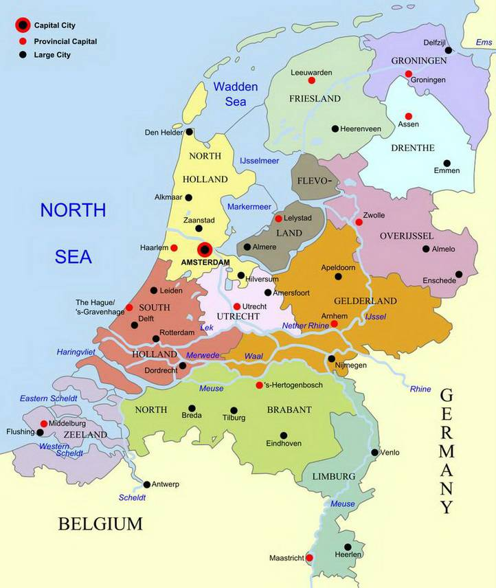 Netherlands map provinces