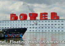 Hotel boat in Amsterdam