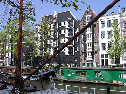 Houseboats at Brouwersgracht