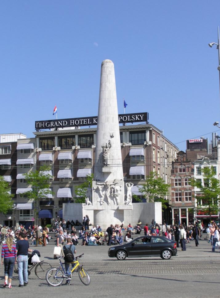 National Monument At Dam Square Amsterdam