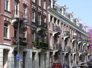 Houses overlooking Amsterdam's Sarphatipark