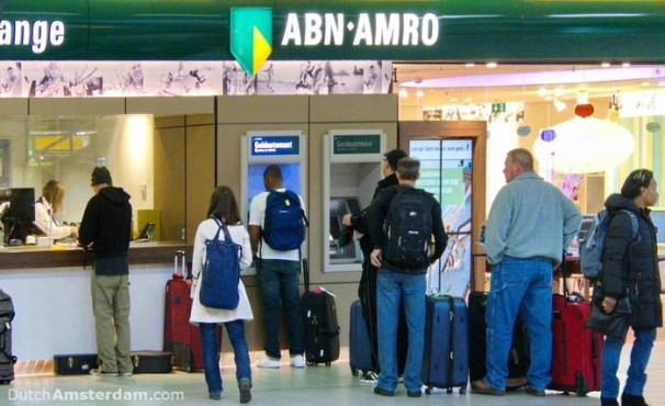 ABN AMRO bank at Schiphol Airport Amsterdam