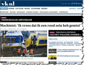 De Volkskrant reports train driver thinks she missed red signal