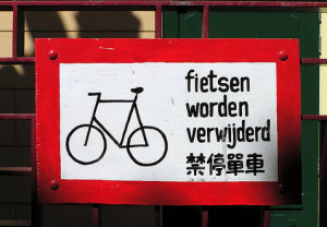 Bikes will be removed