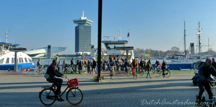 how to get from Amsterdam airport to the port
