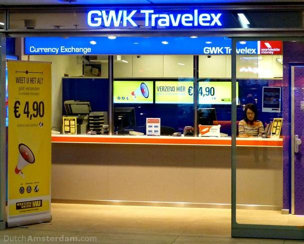 Look for the GWK Travelex sign