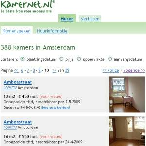rooms for rent in amsterdam