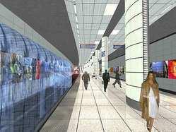 Artist's conception metro station Vijzelgracht
