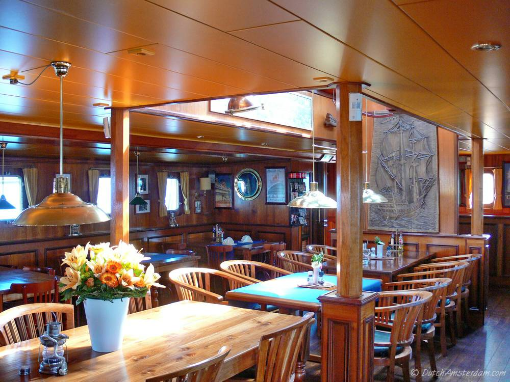 Cozy Dining Space: The Pollux, Floating Café And Restaurant, Amsterdam