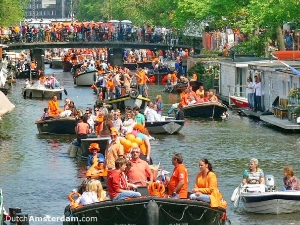 Queen's Day (from 2015 King's Day) is one occasion on which the Dutch wear orange
