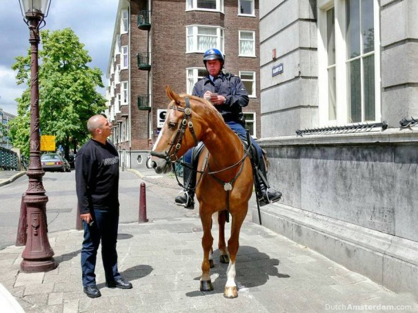 getting a traffic  ticket in Amsterdam