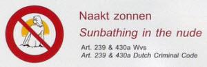 No Nude Sunbathing in Amsterdam Vondelpark