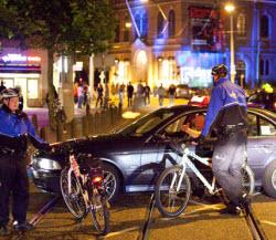 Police vs taxi driver at Leidesplein