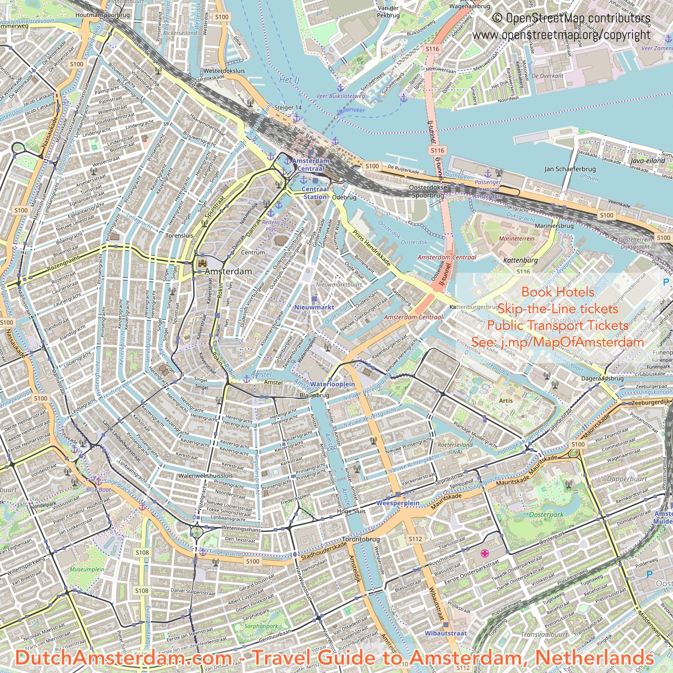 Map Of Amsterdam Map of Amsterdam Map Of Amsterdam