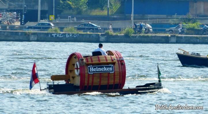 Heineken beer boat