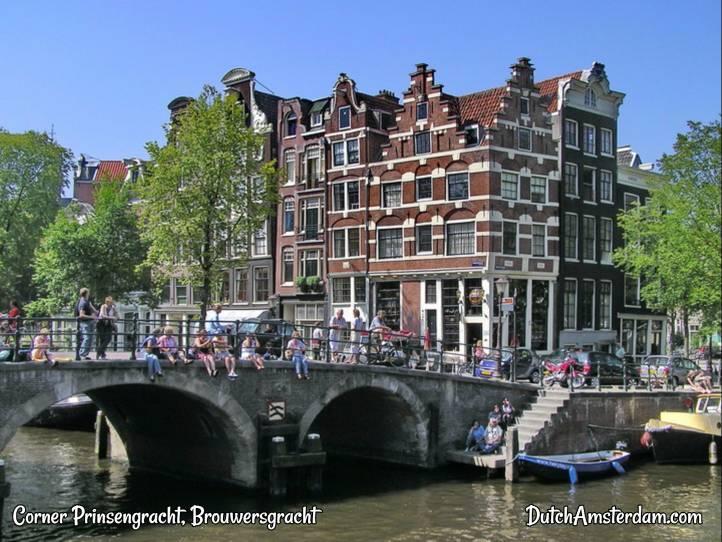 Prinsengracht Brouwersgracht canals in Amsterdam