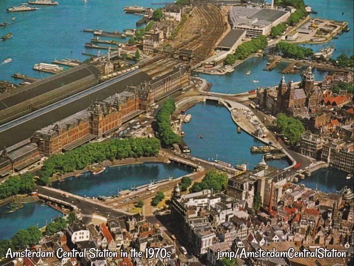 Amsterdam Centraal Station jaren zeventig