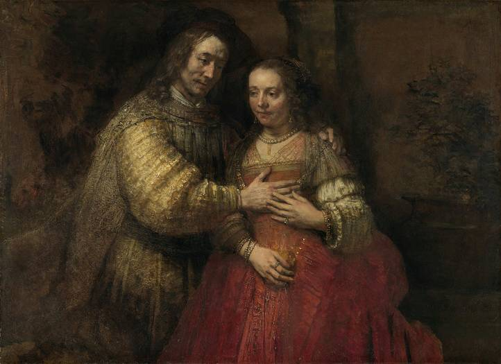 Isaac and Rebecca, Known as 'The Jewish Bride', Rembrandt van Rijn