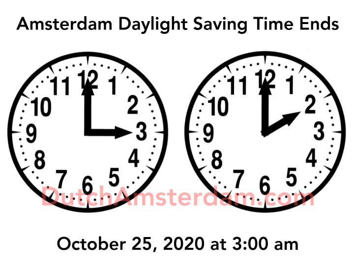 daylight saving time in amsterdam