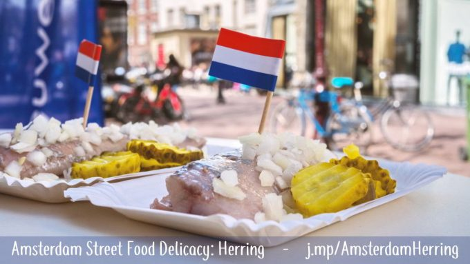 Herring is Amsterdam's favorite street food