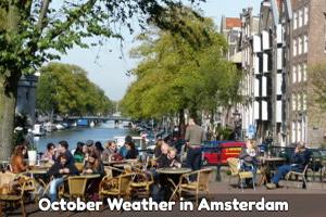Amsterdam October weather forecast