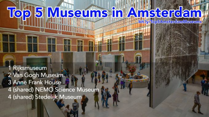 Top five museums in Amsterdam