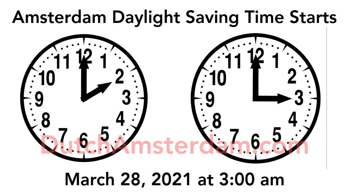 Amsterdam Daylight Saving Time 2021