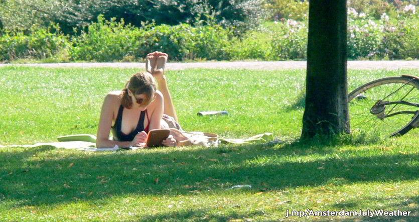 Amsterdam girl in the sun