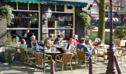 Amsterdam café Marbella at Amstelveld
