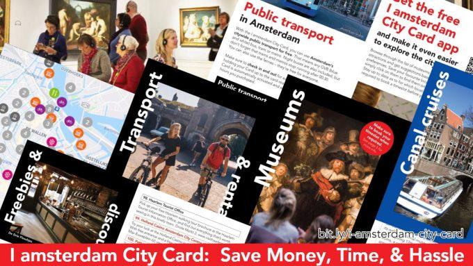 Screenshot of benefits of the I amsterdam City Card
