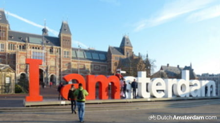 Giant letters spell out 'I amsterdam'