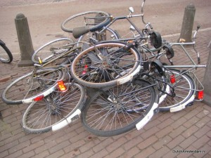 Bikes at Leidseplein, Amsterdam