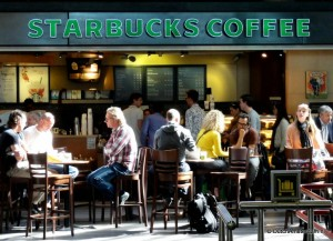 Amsterdam Airport Schiphol Starbucks at the Plaza