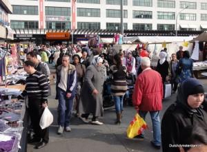 Street market at Plein '40-'45 in Amsterdam West