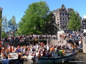 Amsterdam Queen's Day traffic jam