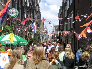 Throngs fill the streets of Amsterdam during Queen's Day