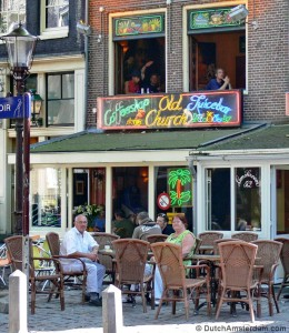Coffeeshop Old Church, in Amsterdam's Red Light District