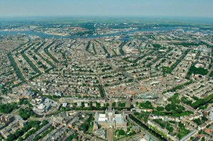 Amsterdam seen from the air