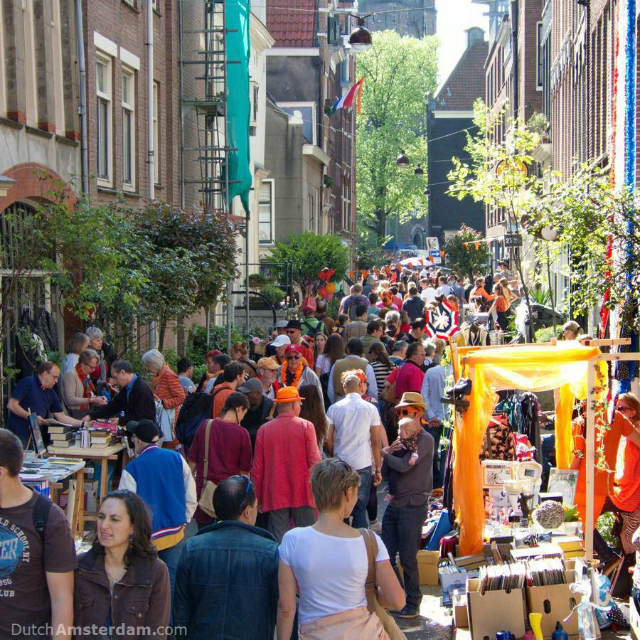 Street market during King's Day