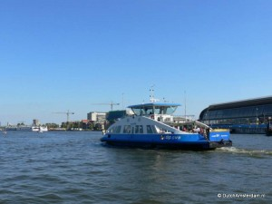Ferry to IJplein, across the IJ river in Amsterdam
