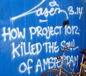 Graffiti against Project 1012