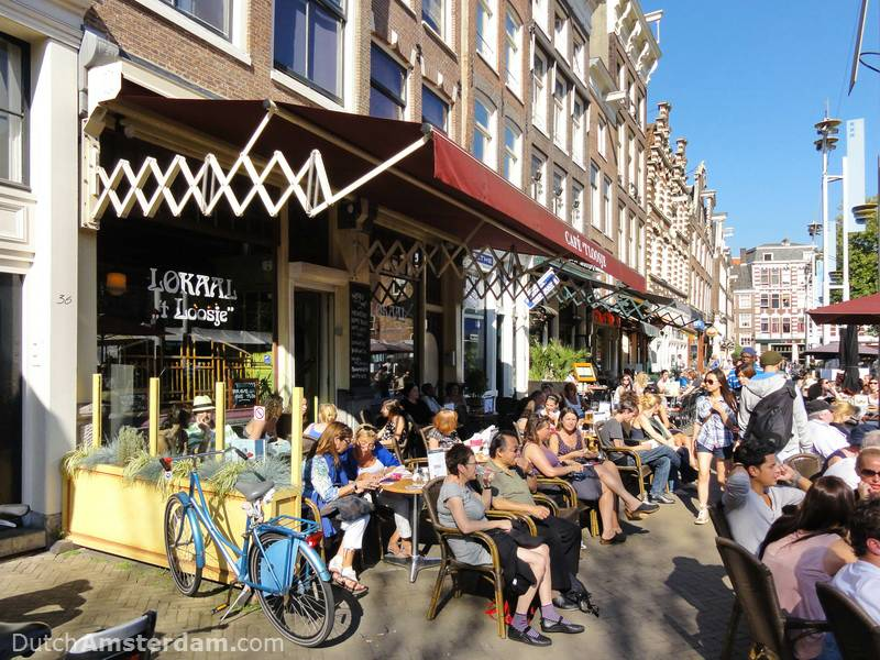Outdoor cafe at Nieuwmarkt
